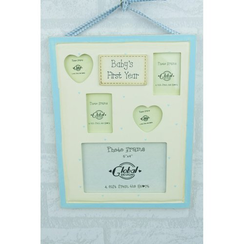 My First Year Collage Photo Frame Baby Blue Boy F0259C