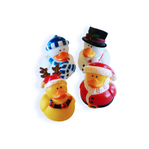 4pc Official 'Perfect Pools' Christmas Rubber Ducks
