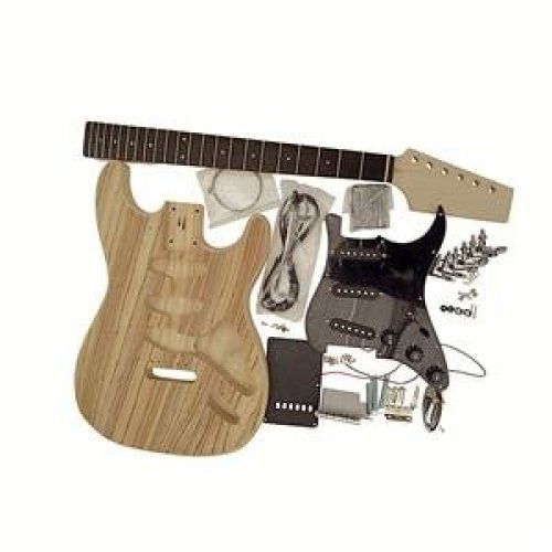 Coban Guitars Electric Guitar DIY Kit GDST4404 Z With Single Sided Original Zebrawood