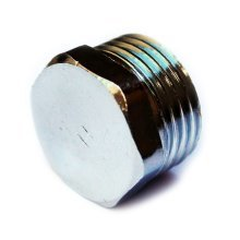 "3/8 1/2 3/4"" Thread Chrome Pipe Screw Hex Male Blanking Plug Tube End Cap Cover"