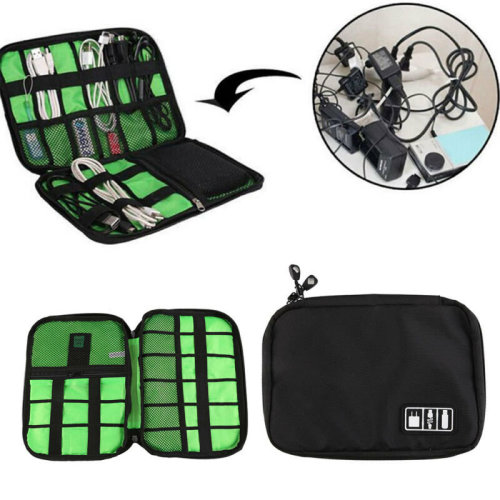 Cable Organizer Digital USB Earphone Gadget Storage Case Bag Travel Kit Pouch