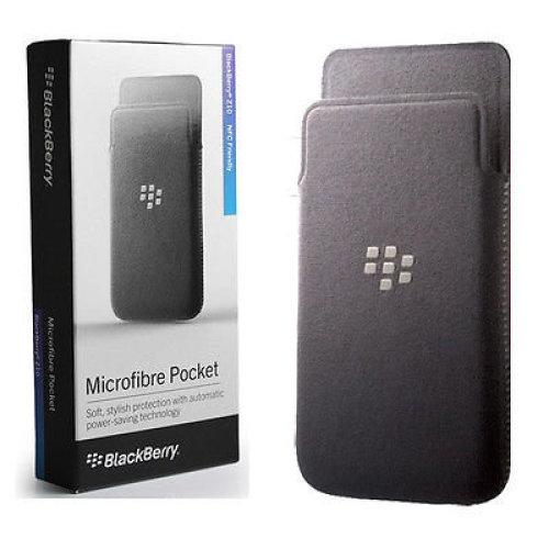 Case Blackberry Z10 MicroFibre Pocket Pouch CC-49282-201 Grey Genuine Official