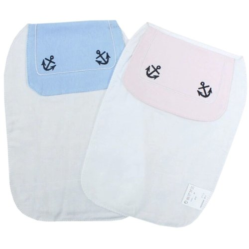 2 Lovely Navy Baby Cotton Gauze Towel Wipe Sweat Absorbent Cloth Mat Towels