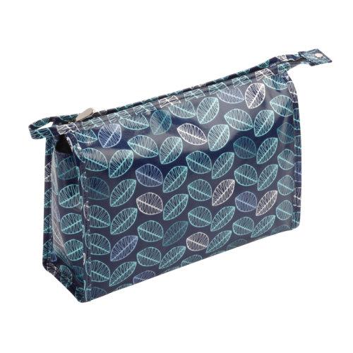 FMG Blue Leaf Large Cosmetics Make Up Bag