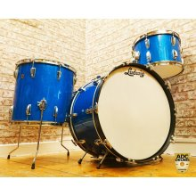 LUDWIG VINTAGE SUPER CLASSIC BLUE SPARKLE 1960'S DRUM SHELL PACK