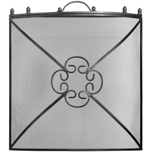 Hill Interiors Mesh Fireguard in Antique Pewter Effect Finish