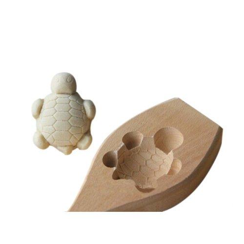 Dessert Baking Molds/Wooden Carving Baking Molds, Cute Tortoise(6.5*5*1.8cm)