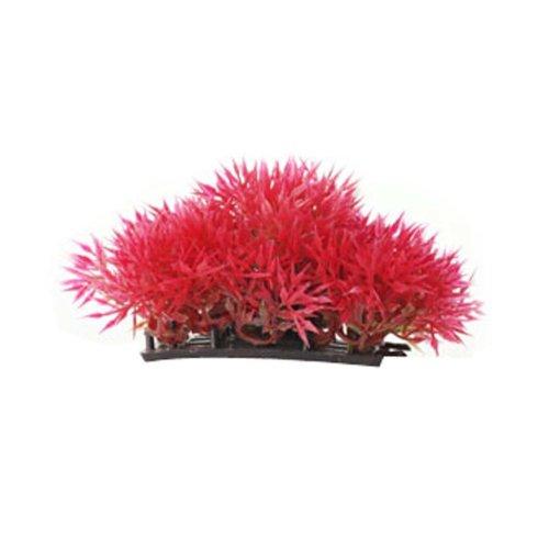 Set of 3 Emulational Plants Aquarium Decor Fish Tank Decoration,Red