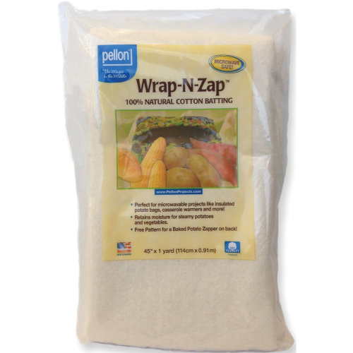 "Pellon Wrap-N-Zap 100% Natural Cotton Batting-45""X36"""