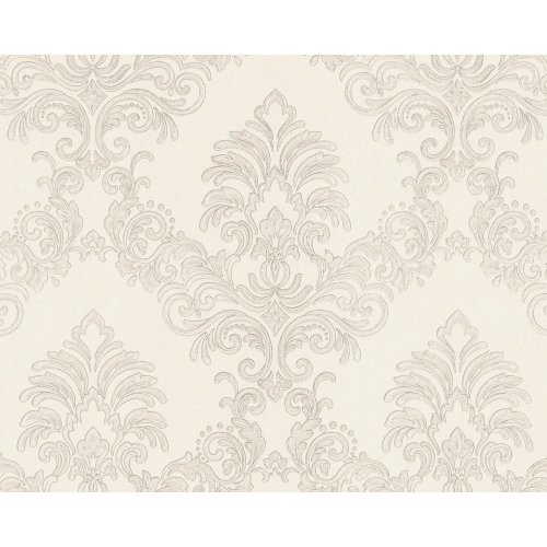 EDEM 9084-20 Baroque wallcovering with metallic highlights cream white 10.65 sqm
