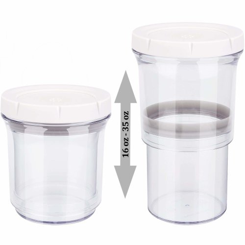 9667367c465 Food Storage Container, Adjustable Airtight Container, Kitchen Storage  Jars, Saving Space Keeps Food Fresh & Dry - Durable Plastic BPA Free(1  Pack) on OnBuy