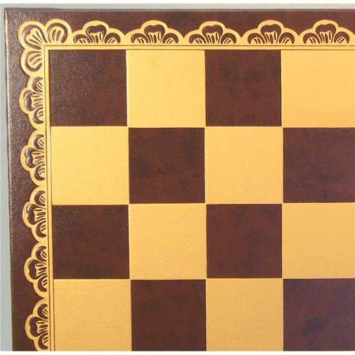 Ital Fama 203GM Pressed Leather Board, Brown & Gold with 2 in. Square
