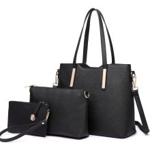 Miss Lulu 1 Set Women Shoulder Bag Leather Handbag Tote