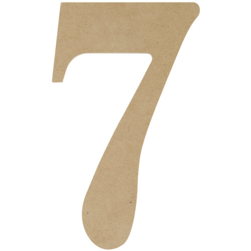 """MDF Classic Font Wood Letters & Numbers 9.5""""-7"""