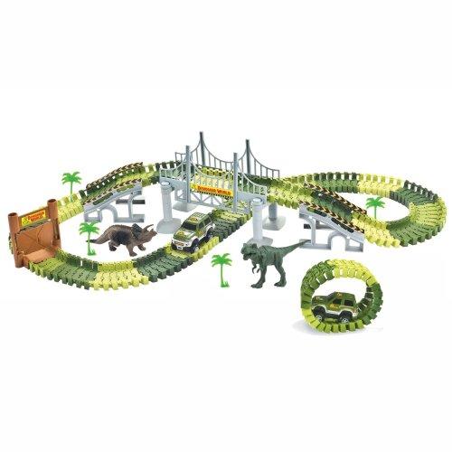 Dinosaur World Toy Car Track Set  - Create A Road
