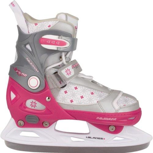 Nijdam Girl Kids Ice Figure Skates Boots with Blades Size 29-32 3121-FZW-29-32