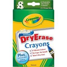 Crayola Washable Dry-Erase Crayons-Classic 8/Pkg