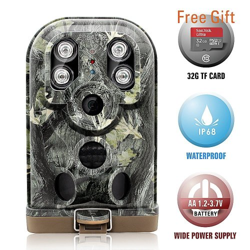 Wildlife Trail Camera Trap Ereagle Hunting Camera with Infrared Night Vision Waterproof IP68 HD 1080P 940nm IR LED Time Lapse Camouflage for...