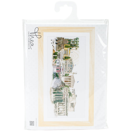 """Athens On Linen Counted Cross Stitch Kit-31""""X20"""" 36 Count"""