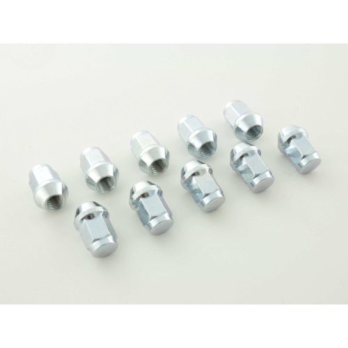 Nuts Set (10 pieces), M12 x 1.75 23mm Taper silver
