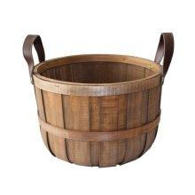 Large Chipwood Barrel Storage Basket