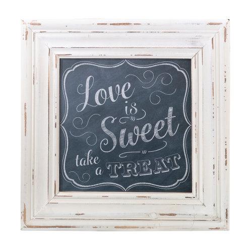 Love Sweet Square Framed Sign