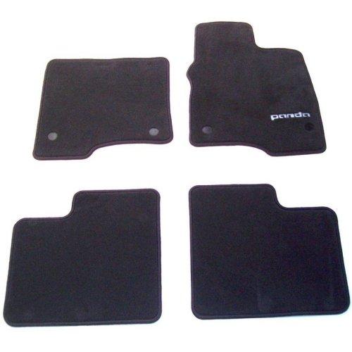 Fiat Panda New Set of Black Logo Tailored Carpet Mats 59137577 2015 Onwards