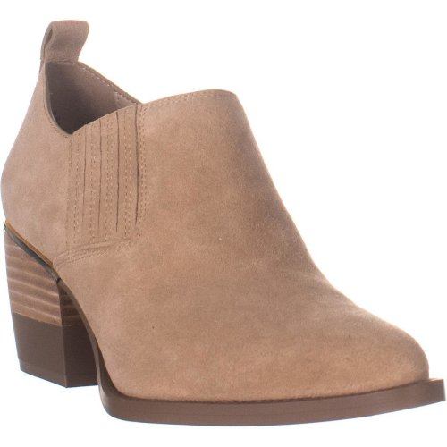 DKNY Roxy Shootie Pointed Toe Ankle Boots, Light Tan Suede, 5.5 UK