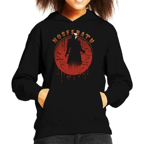 Nosferatu Silhouette Kid's Hooded Sweatshirt