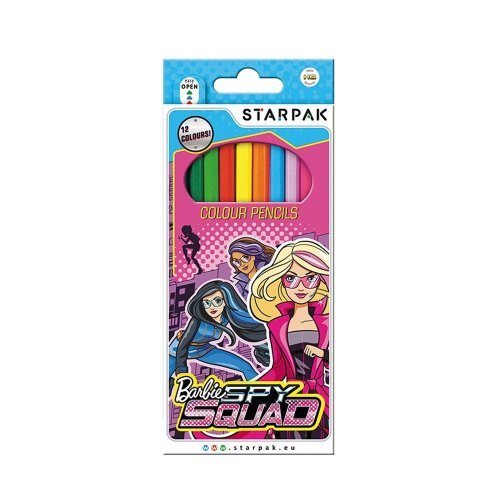 BARBIE SPY SQUAD Pack of 12 x Colouring Pencils 12 Colours