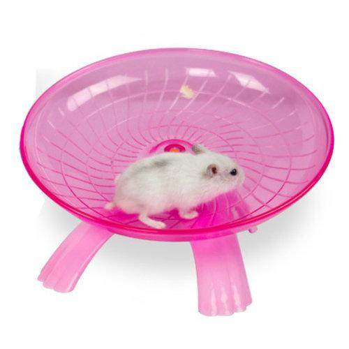 Hamster Mouse Running Disc Flying Saucer Exercise Wheel