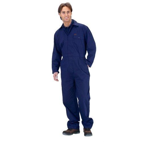 """Click CDBSN34 Cotton Boilersuit Navy Blue 34"""" Waist"""