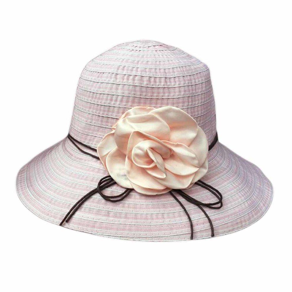 Flower Wide Brim Beach Hat Straw Hats Womens Summer Foldable Sun Hat on  OnBuy f0a2797a72d