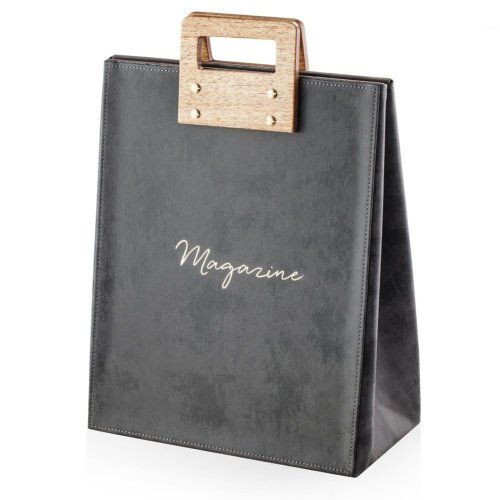 Magazine Holder Dark Grey with Light Wood NEVERS