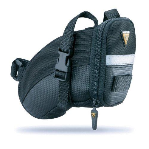 Topeak Unisex Adult Aero Wedge Pack Strap Mount Saddle Bag - Black, 17 x 8 x 12 cm/0.66 Litre