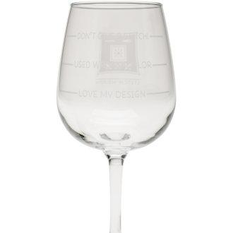 Stitch Happy Wine Glass In Box 12oz-Don't Give A Stitch