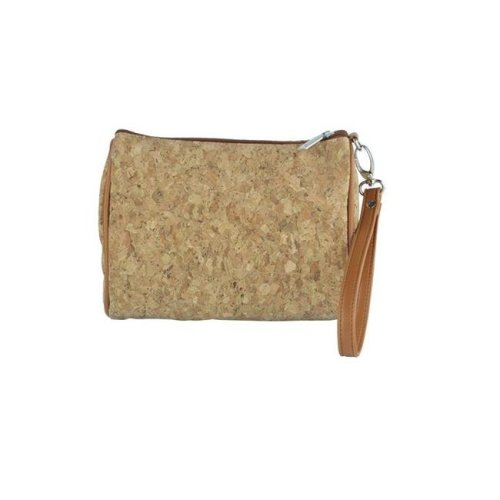 Shirley Temple-Touch Up Insulated Cosmetics Bags with Removable Wristlet, Cork - Large