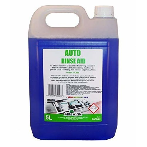 Greyland Auto Rinse- Aid 5L - For Cabinet dishwashers & Glass washers.