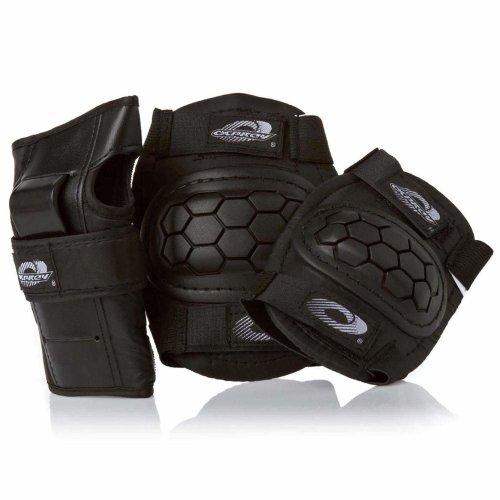 Osprey Unisex Child Skate BMX Protective Pad Set - Black, Medium