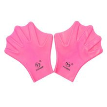 Water Gear Silicone Swim Webbed Gloves for Adults, 2pcs (Pink)