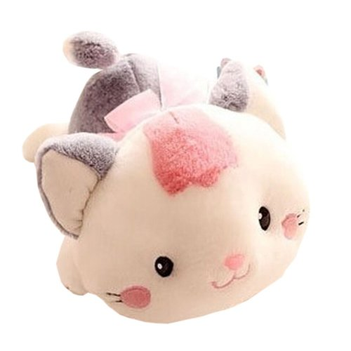 Plush Doll for Kids Lovely Pink Cat Plush Toy Stuffed Gift (H)40CM