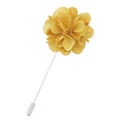 Gold Plain Satin Lapel Pin