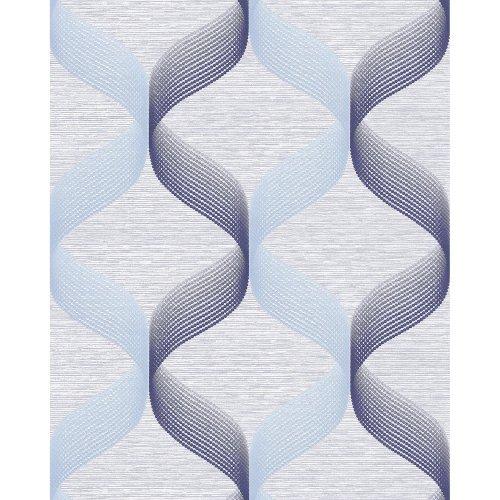 EDEM 1034-12 Retro wallpaper glittering blue light-blue 5.33 sqm