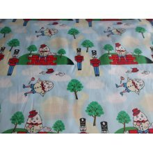 "Humpty Dumpty Nursery Rhyme 100% Cotton Fabric by the metre - 58"" / 147cm Wide"