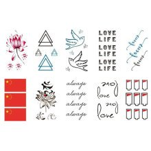 10 Sheets Fashion Body Art Stickers Removable Waterproof Temporary Tattoos ( J )