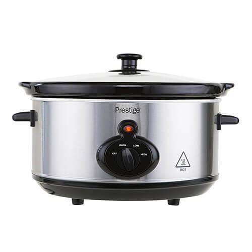 Prestige Mechanical Slow Cooker, 3.5 Litre, Silver, 3.5 Litre