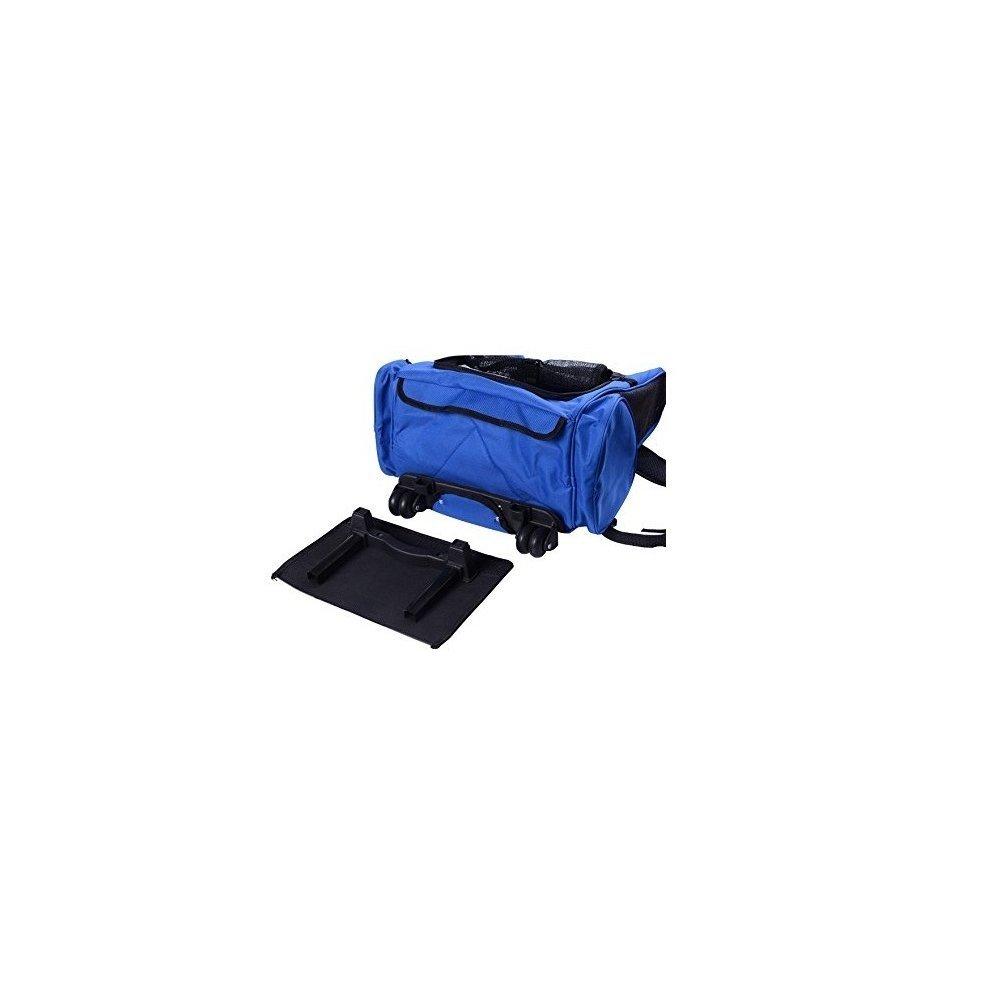 7d12150e5705 ... Pawhut Pet Travel Backpack Bag Cat Puppy Dog Carrier W  Trolley - 3 ...