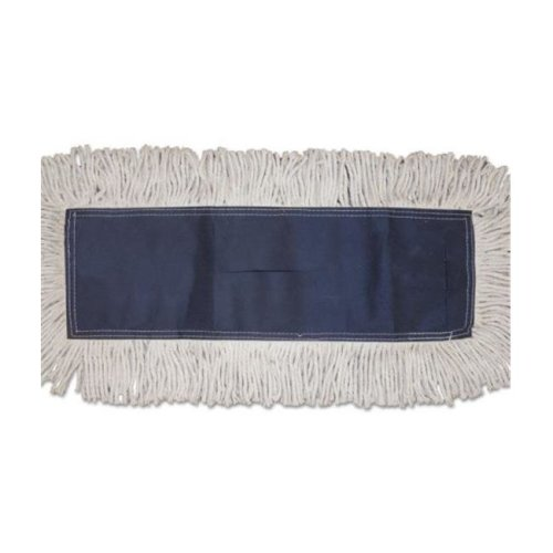 Boardwalk BWK1660CT 12 Count Cotton Disposable Cut-End Dust Mop Head, 12 Per Carton