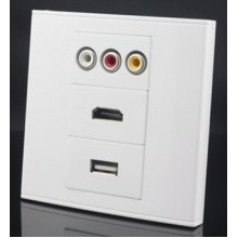 Wall Face Plate RCA AV Video HDMI USB Socket Connector Panel Faceplate