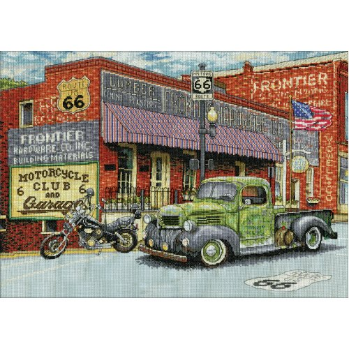 """Design Works Counted Cross Stitch Kit 14""""X20""""-Frontier Hardware (14 Count)"""